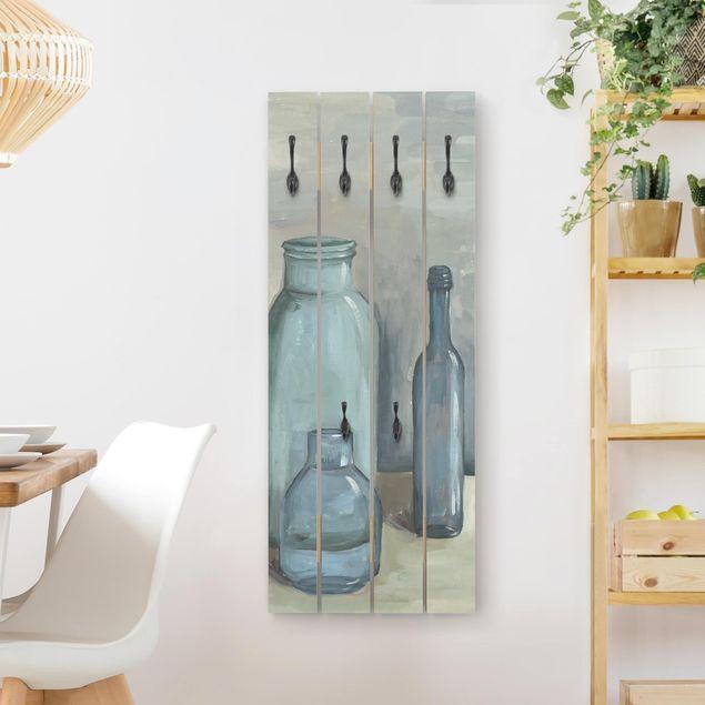 Wandgarderobe Holz - Stillleben mit Glasflaschen II