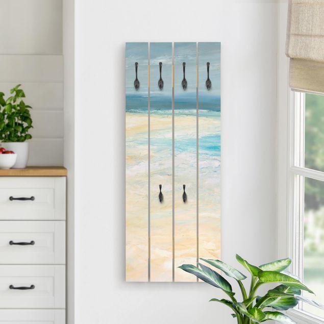 Wandgarderobe Holz - Sturm auf dem Meer I