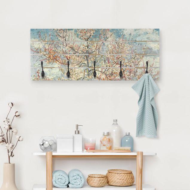 Wandgarderobe Holz - Vincent van Gogh - Blühende Pfirsichbäume