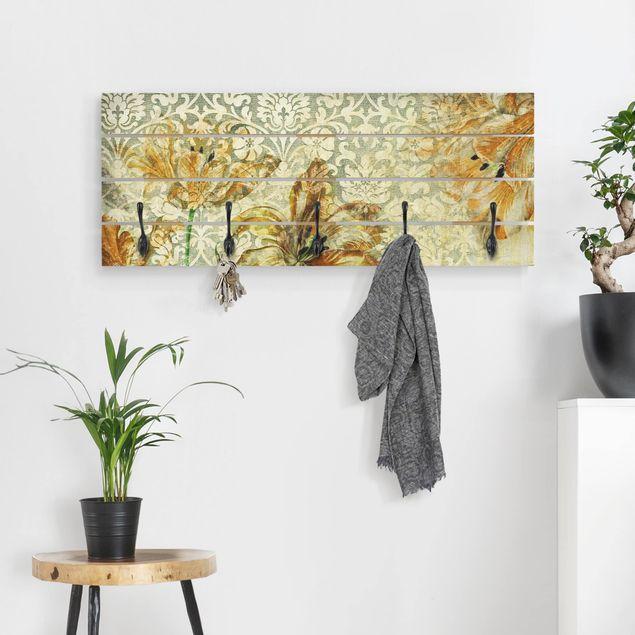 Wandgarderobe Holz - Vintage Grasses