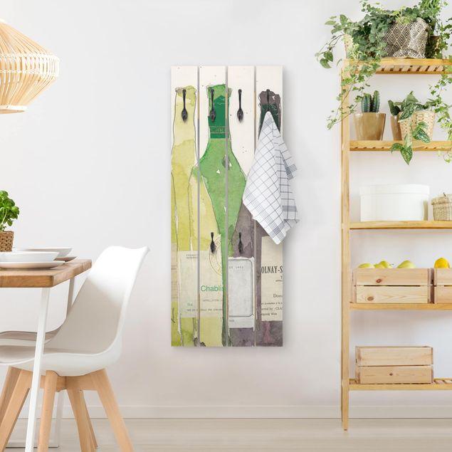 Wandgarderobe Holz - Wein & Spirituosen III