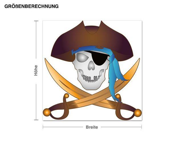 Wandsticker Achtung Piraten