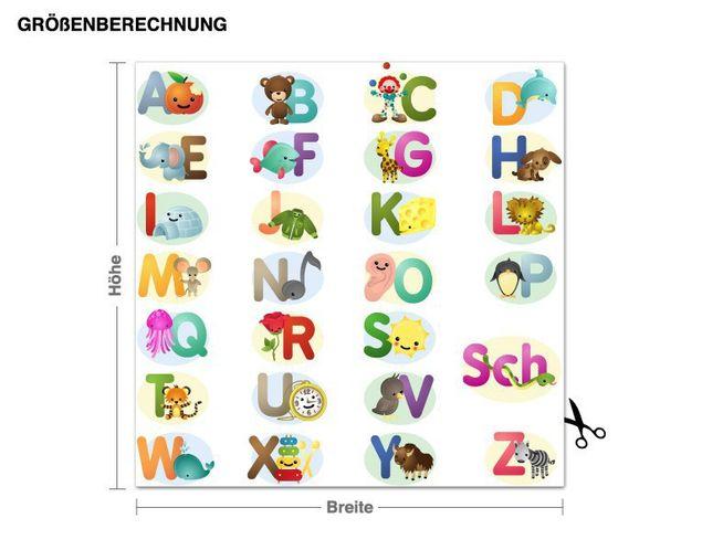 Wandsticker Alphabet