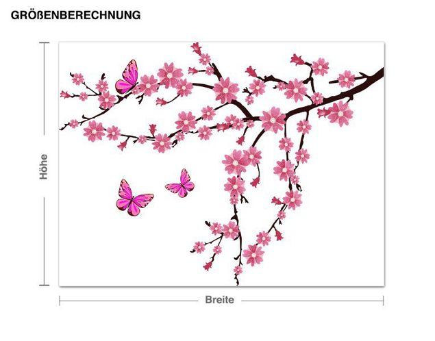 Wandsticker Ast mit Kirschblüten