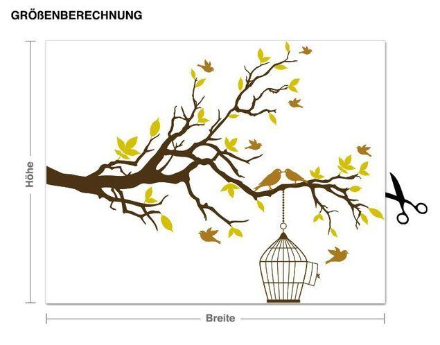 Wandsticker Ast mit Vögeln