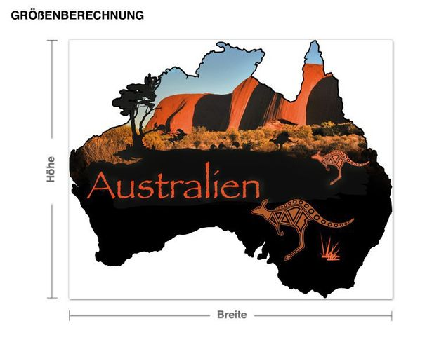 Wandsticker Australien