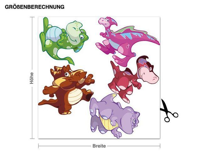 Wandsticker Babydino-Set