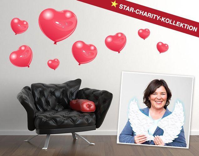 Wandsticker Ballon-Herzen