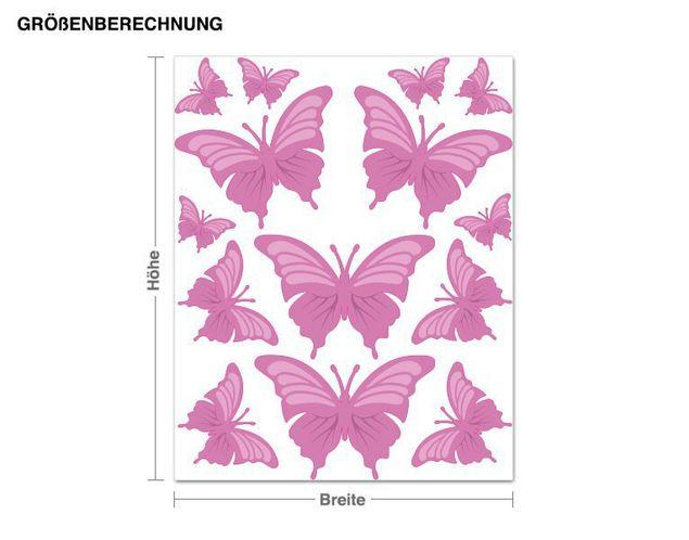Wandsticker Bezaubernde Schmetterlinge