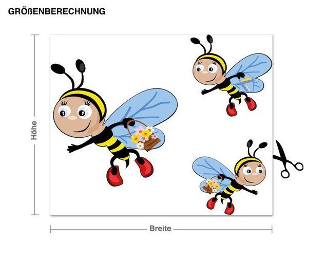 Wandsticker Bienen-Ausflug