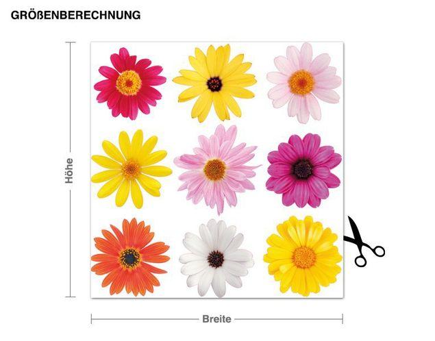 Wandsticker Blüten Set