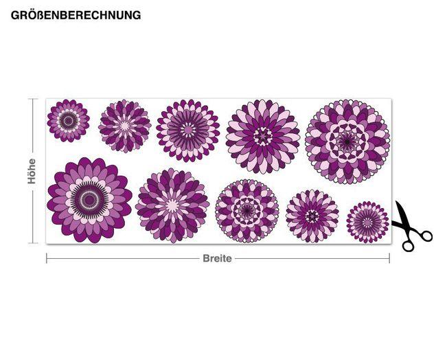 Wandsticker Blüten-Set Lila