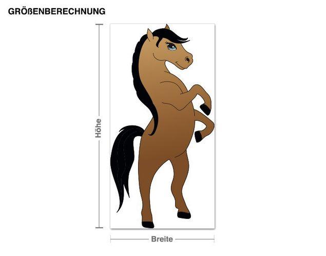Wandsticker Braunes Pferd