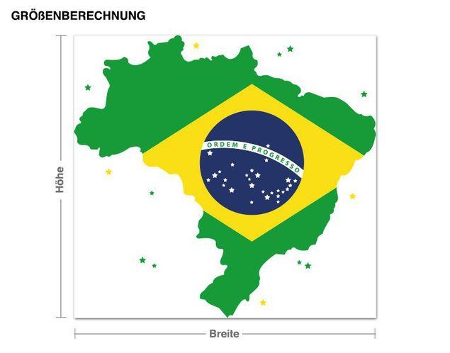 Wandsticker BRAZIL