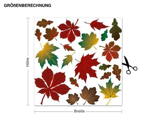 Wandsticker Bunte Herbstblätter