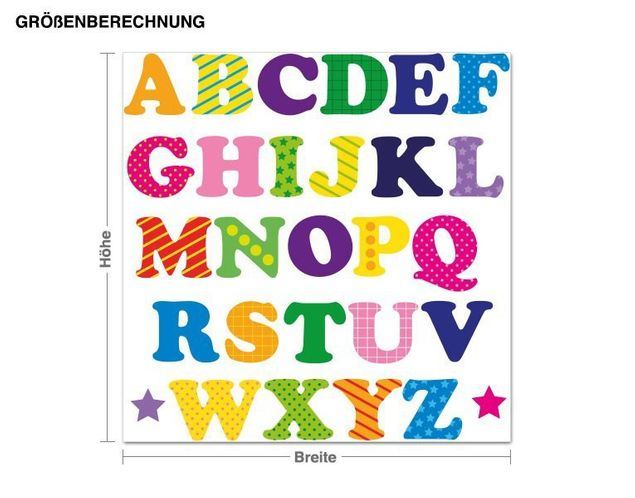 Wandsticker Buntes Alphabet