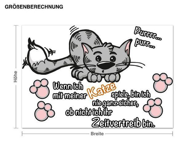 Wandsticker Die Katze