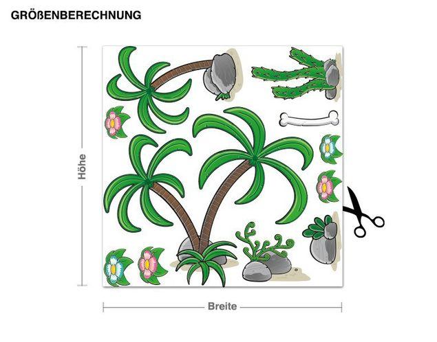 Wandsticker Dinolandschaft Pflanzen