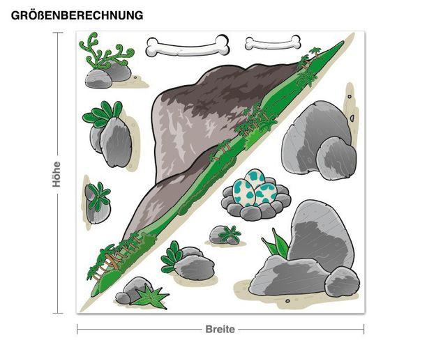 Wandsticker Dinolandschaft Stein & Felsen