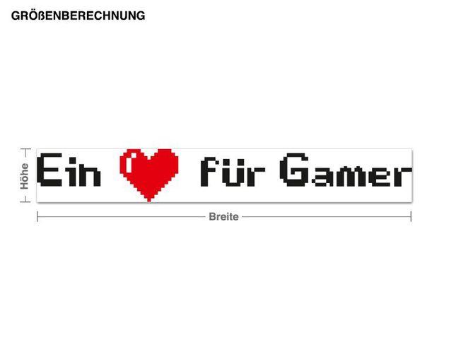 Wandsticker Ein Herz für Gamer