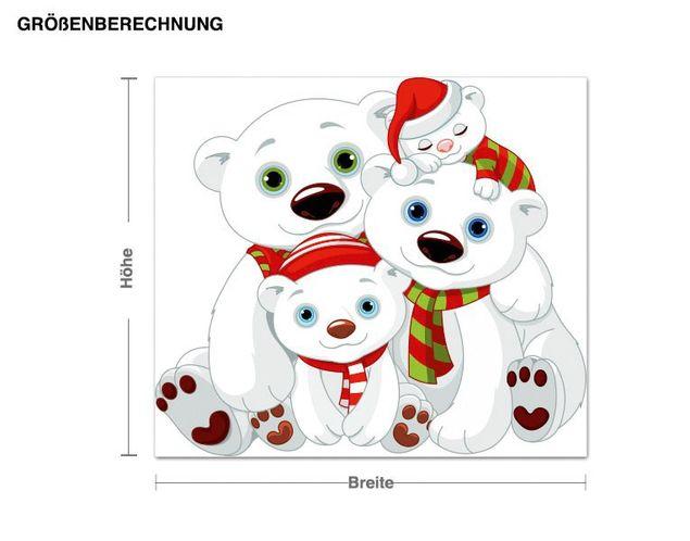 Wandsticker Eisbär Familie