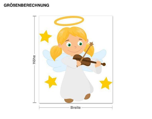 Wandsticker Engel mit Geige