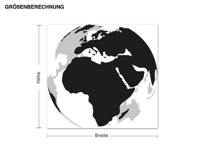 Wandsticker Erde 3D