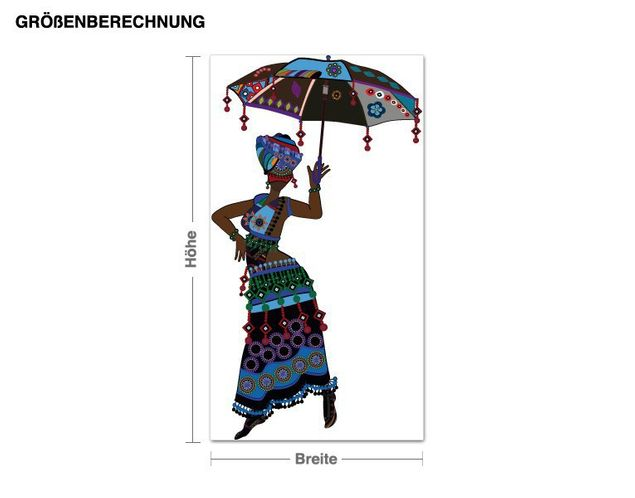 Wandsticker Ethnic Fashion