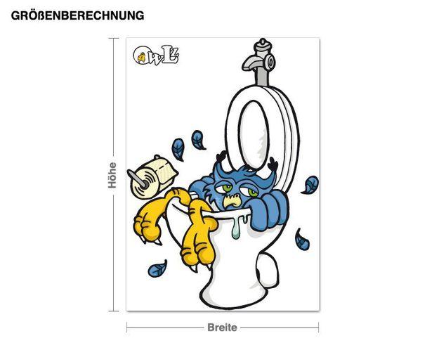 Wandsticker Eule Egon im WC