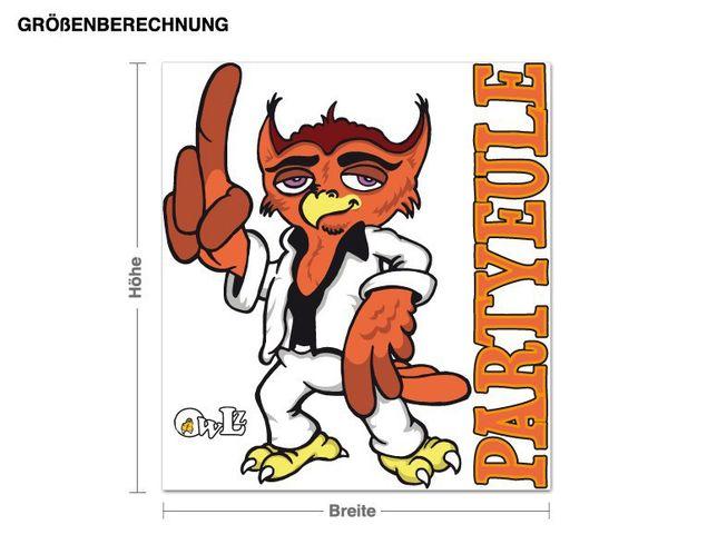 Wandsticker Eule Party-Paule