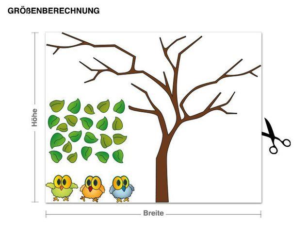 Wandsticker Eulen auf Baum