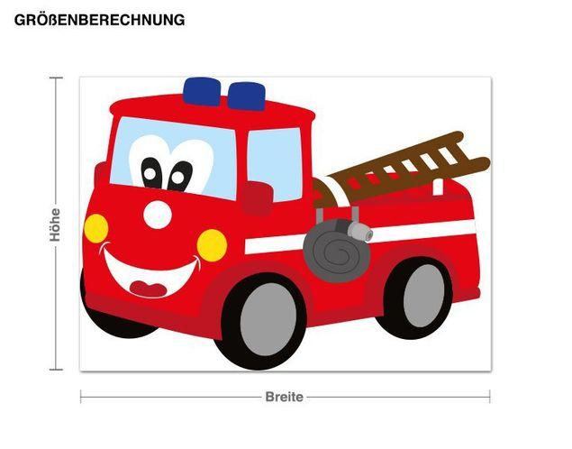 Wandsticker Feuerwehrauto