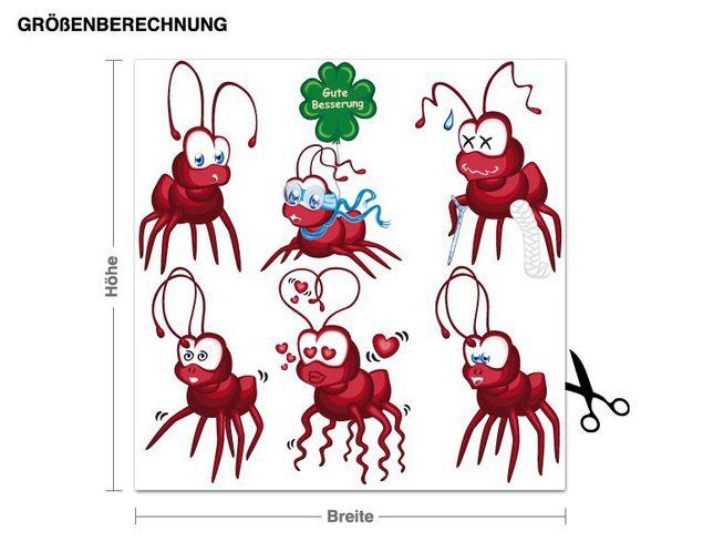 Wandsticker Fire Ants
