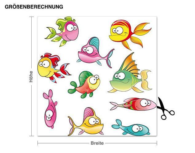 Wandsticker Fischis 2
