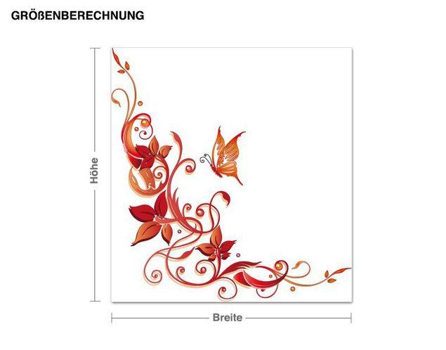 Wandsticker Florale Verzierung