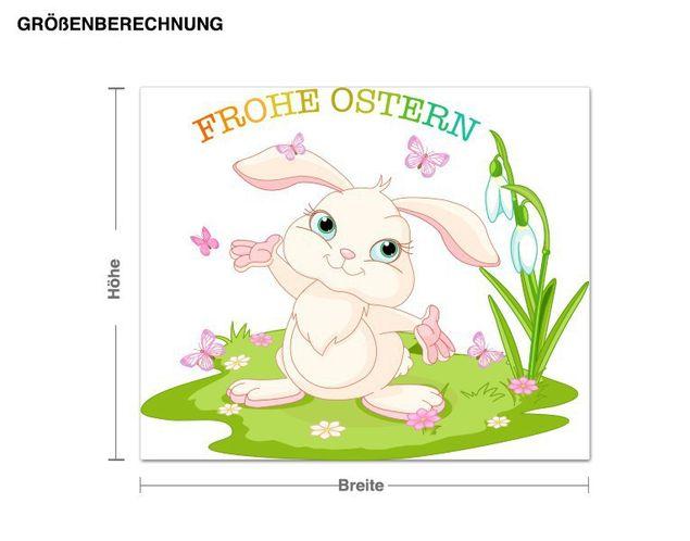 Wandsticker Frohe Ostern Häschen