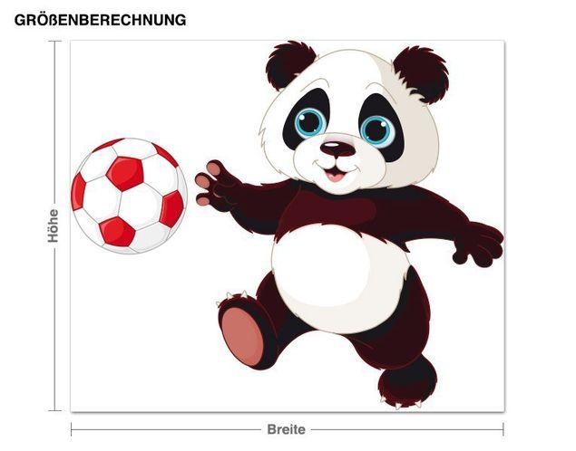 Wandsticker Fußball Panda