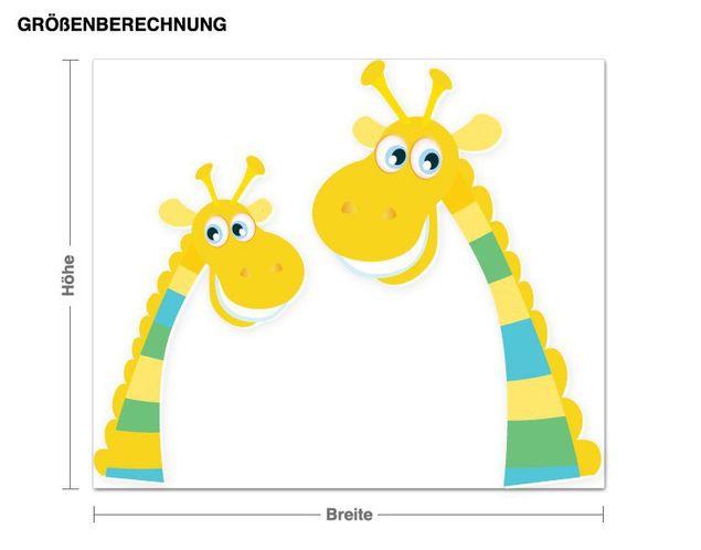 Wandsticker Giraffenhälse