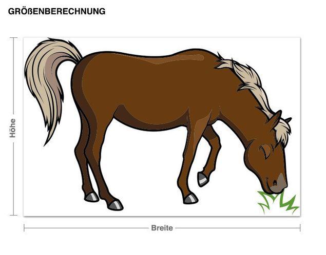 Wandsticker Grasendes Pferd