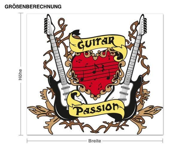Wandsticker Guitar Passion