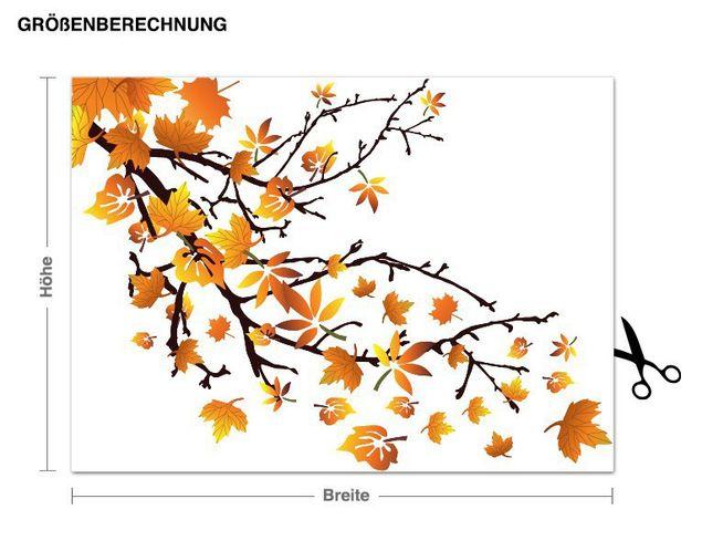 Wandsticker Herbstblätter