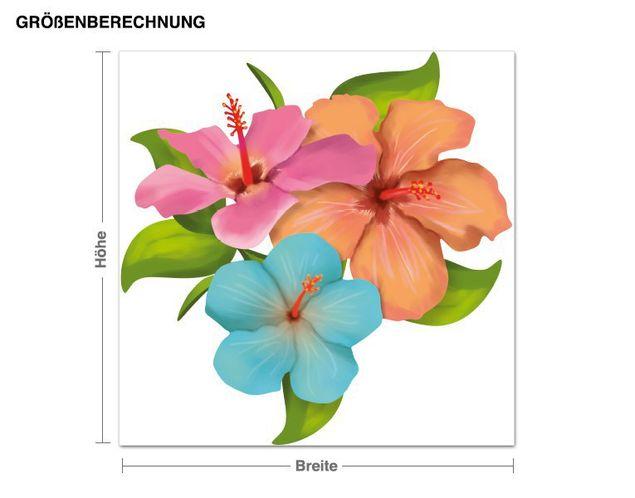 Wandsticker Hibiskus Blüten