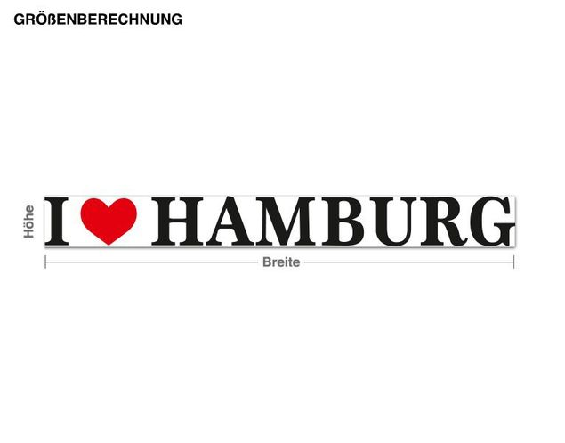 Wandsticker I Love Hamburg
