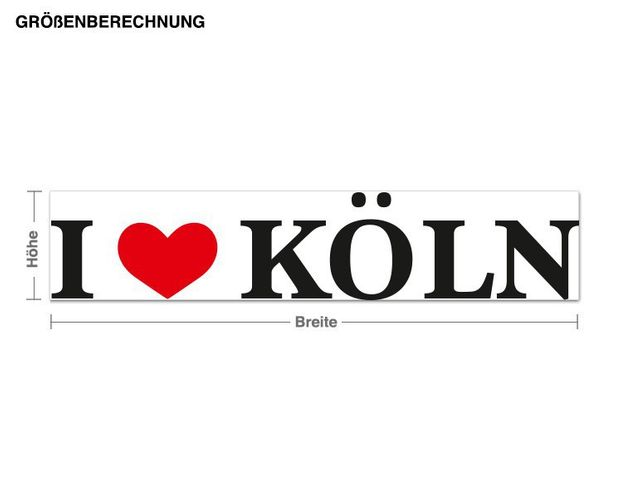 Wandsticker I Love Köln