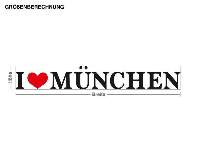 Wandsticker I Love München