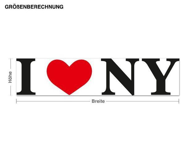 Wandsticker I Love NY