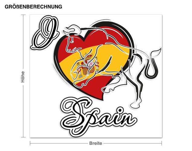 Wandsticker I love Spain