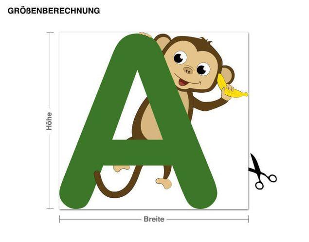 Wandsticker Kinder ABC - Affe