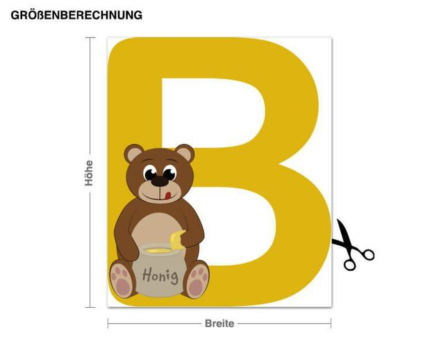 Wandsticker Kinder ABC - Bär