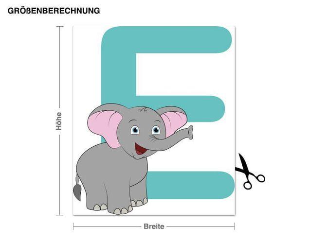 Wandsticker Kinder ABC - Elefant